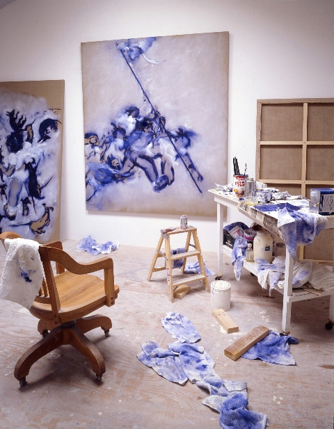 Kim Dingle, Blue Period, Studio, 2002