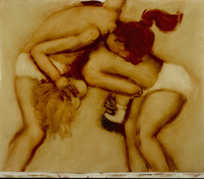 Kim Dingle, Girls on Linen, Wild Girls, Contemporary Art