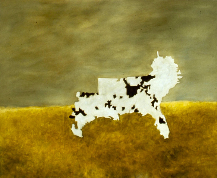 Kim Dingle, Maps, Lincoln's Cow, 1990