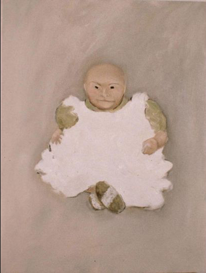 Kim Dingle, Portrait of Cram Dingle as a baby as George Foreman, 1990